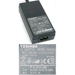 CARREGADOR PORTÁTIL TOSHIBA 15V 90W 2A 6.3x3.0