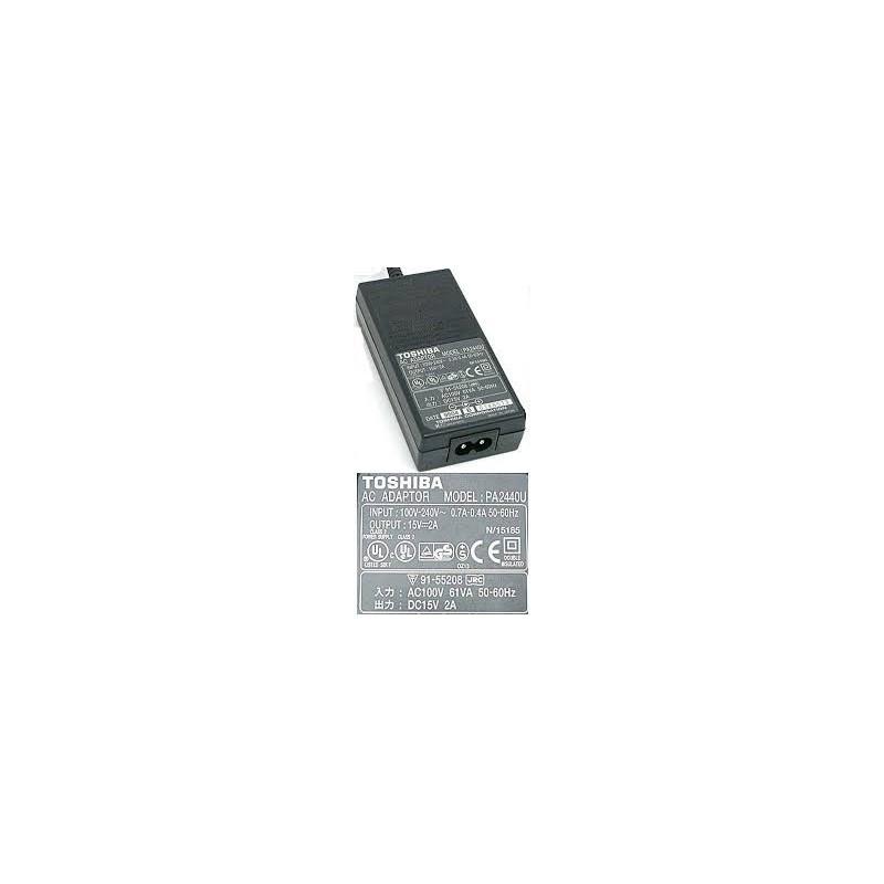 CARGADOR PORTATIL TOSHIBA 15V 90W 2A 6.3x3.0