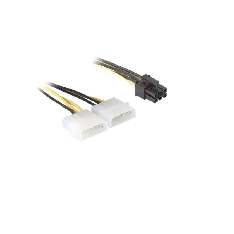 CABLE ALIMENTACION VGA PCIe DE 15 CM 2*MOLEX