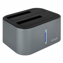 TOOQ TQDS-805G DOCK STATION DOBLE BAHÍA HDD GRIS